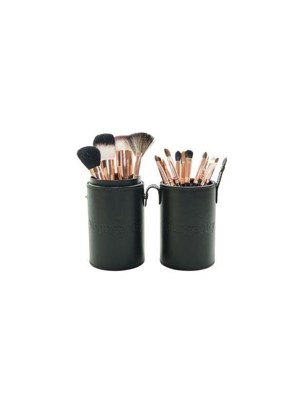 Mineral Makeup Brush Kit - Black Case