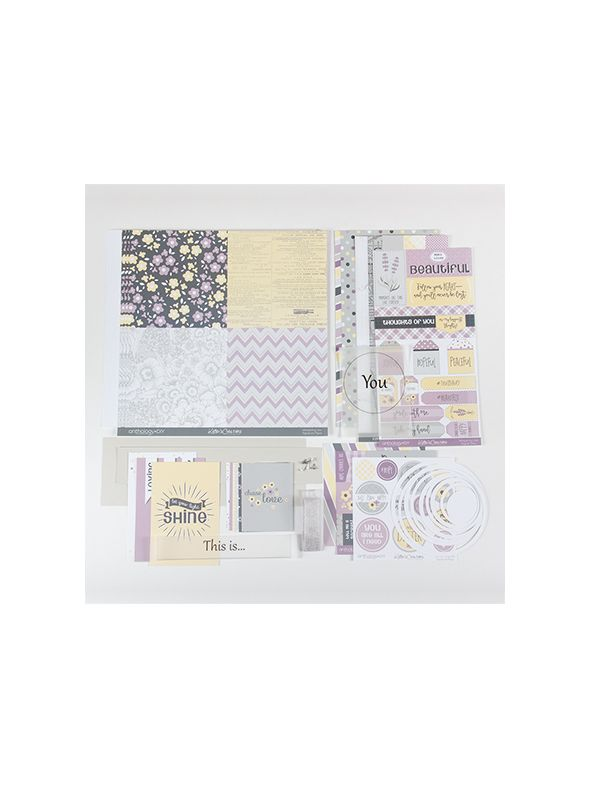 Whispering Lilac Page Layout Kit