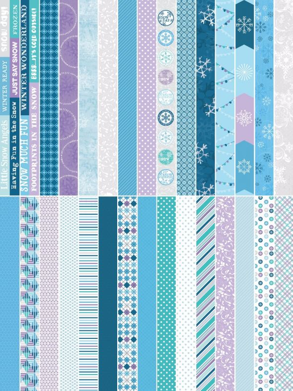 Winter Wonders by Katie Pertiet Pocket Border Strips- Set 30