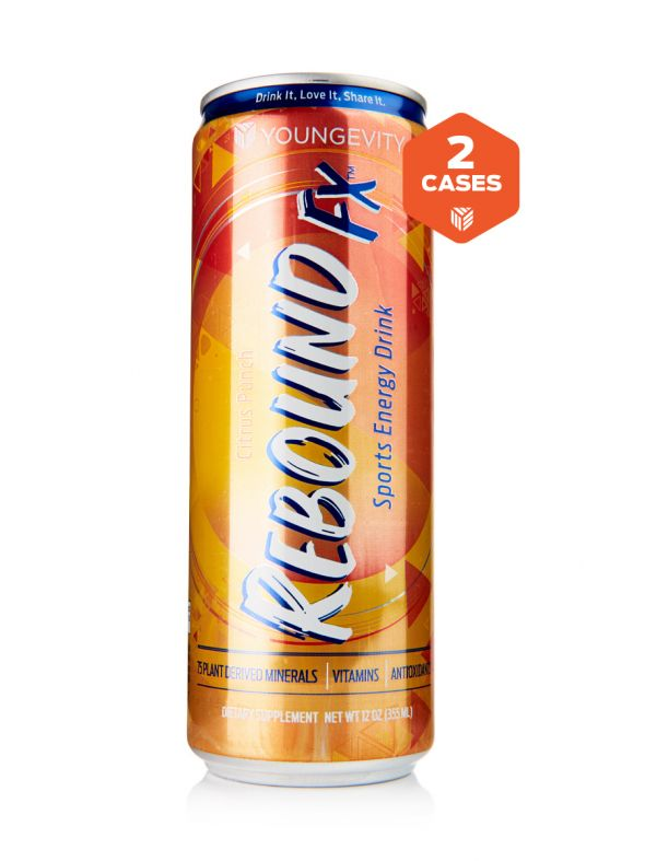 Rebound Fx™ Citrus Punch Sports Energy Drink - 2 Cases (24-12 oz cans)